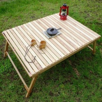 Rolltop Table L-W