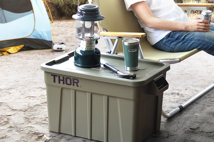 THOR Large Totes With Lid 53L  使用画像